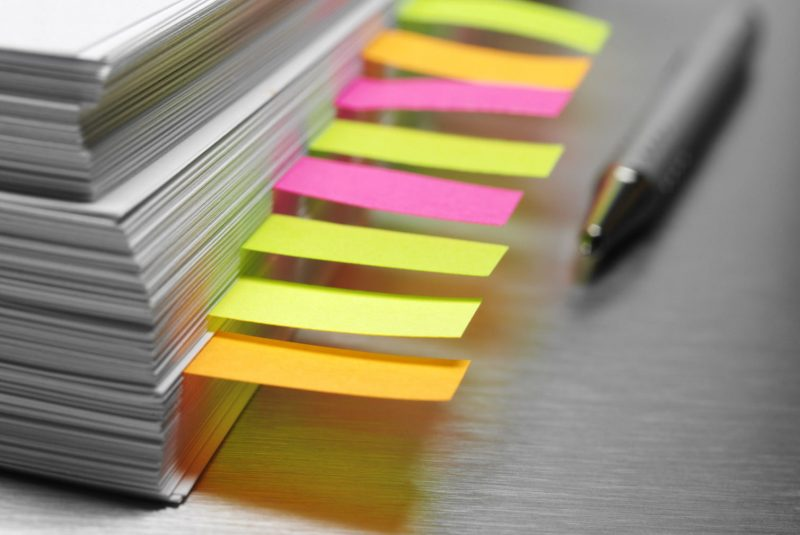 research sticky notes