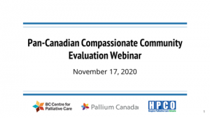 Measuring compassionate community action: A webinar to help you evaluate your impact